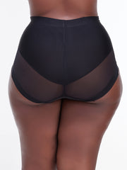 Rokens Collection Seamless High Waist Panties - Black