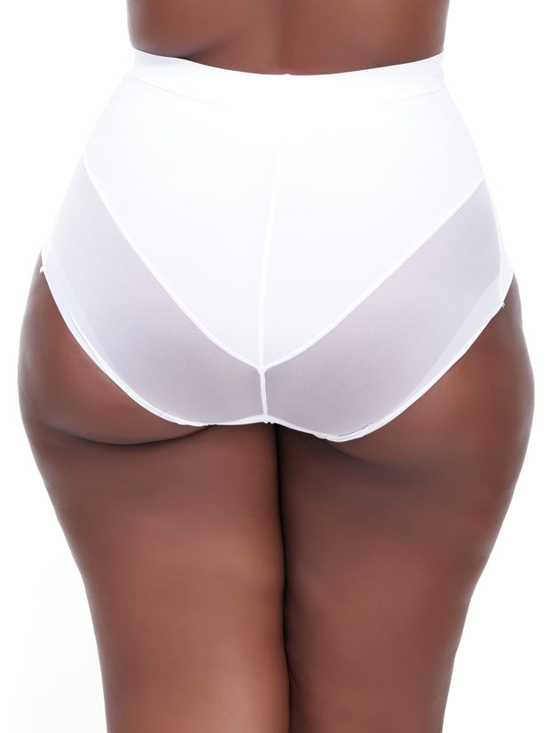 Rokens Collection Seamless High Waist Panties - White