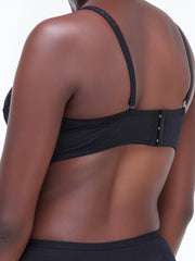 Rokens Collection Pattern Bra - Black