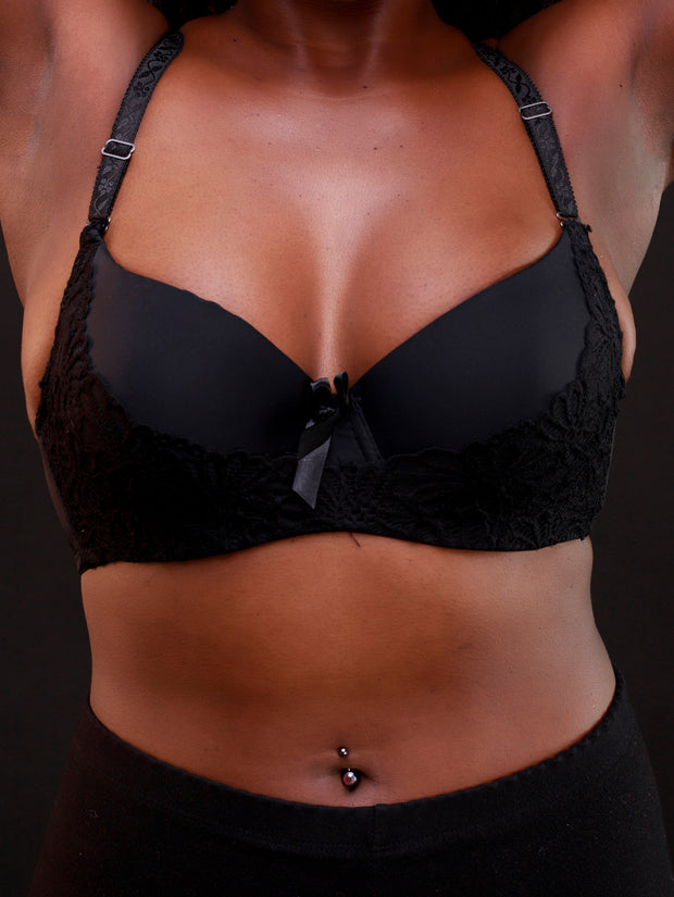Rokens Collection Lace Bra - Black