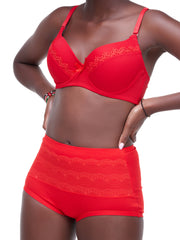 Rokens Collection Pattern Bra - Red