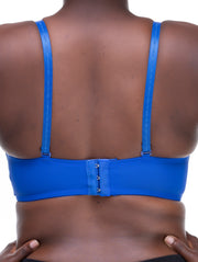 Rokens Collection Pattern Bra - Royal Blue