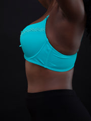 Rokens Collection Pattern Bra - Sea Green