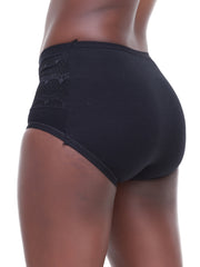 Rokens Collection Cotton Panties - Black