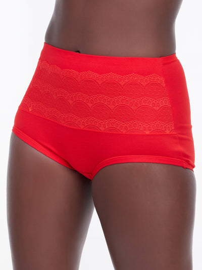 Rokens Collection Cotton Panties - Red