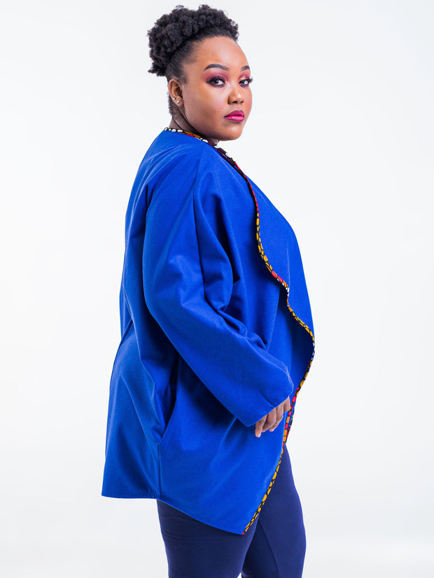 Vivo Lome Cocoon Coat - Royal Blue