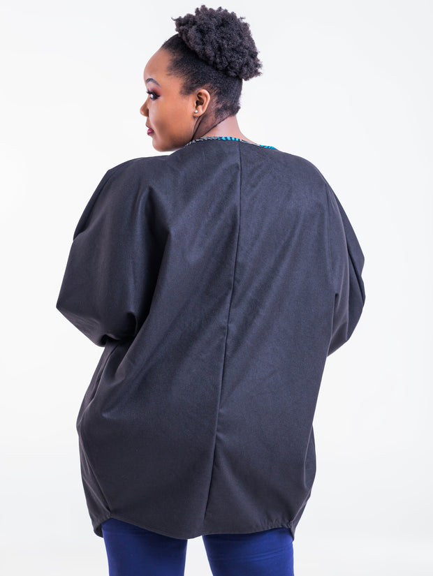 Vivo Lome Cocoon Coat - Black