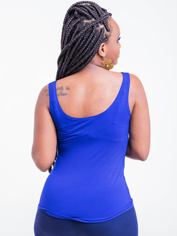 Zoya Basic Tank Top - Royal Blue