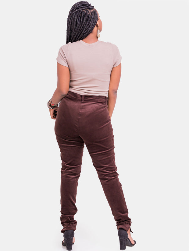 Vivo Corduroy Pants - Brown