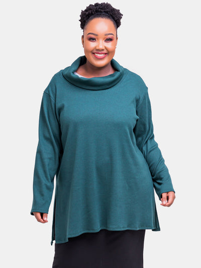 Vivo Tuni Rib Top - Dark Green