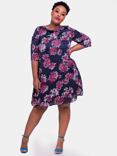 Vivo Ayo Tent Dress - Purple Print