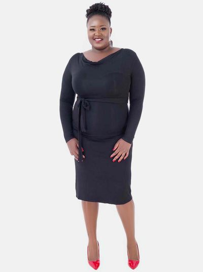 Vivo Laurie 3/4 Sleeve Dress - Black