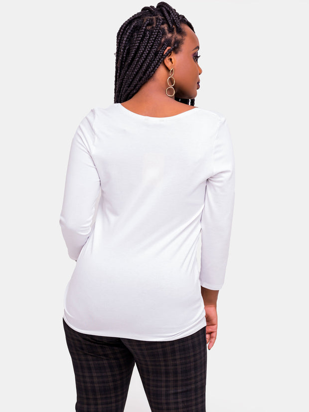 Vivo Tulia Long Sleeve Top - White