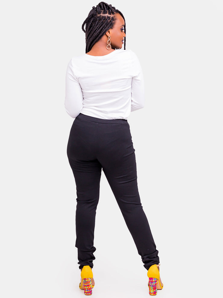 Vivo Zuri Leisure Pants - Black - Shop Zetu