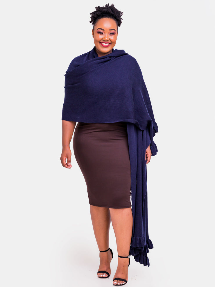 Vivo Pashmina Shawl - Navy Blue