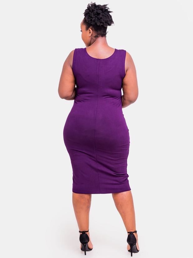 Vivo Basic Bodycon - Eggplant
