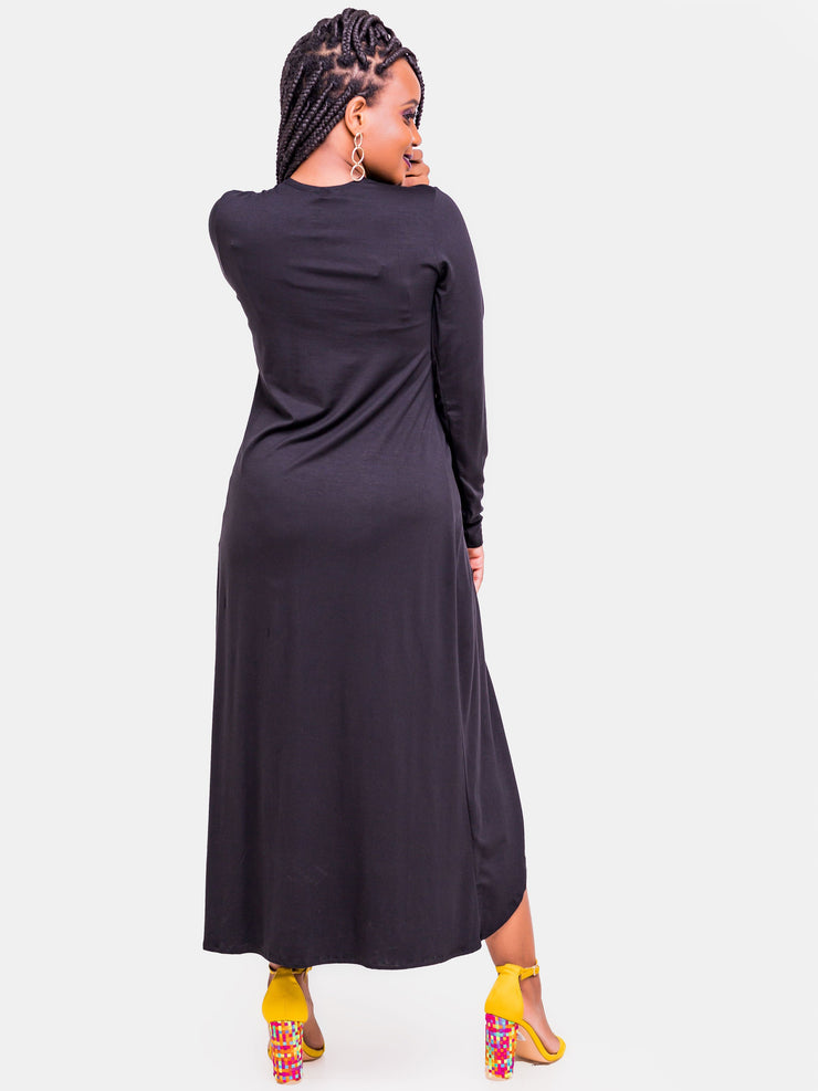 Vivo Front Knot Maxi Top - Black