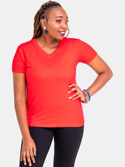 Vivo V-Neck T-Shirt - Red