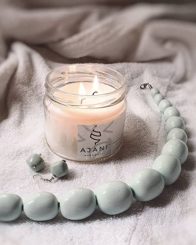 Ajani Vanilla And Sandalwood Scented Candle - VivoWoman