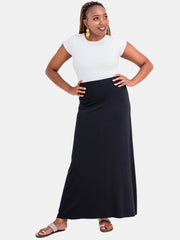 Vivo Davina A-line Maxi Skirt - Black