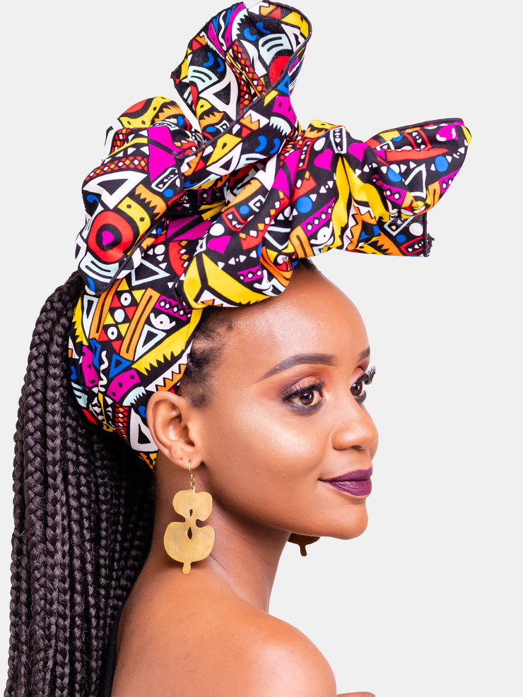 Nywele Chronicles Demi Wrap - Pink & Yellow - Shop Zetu