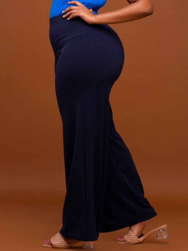 Vivo Dua Wide Leg Pants - Navy Blue