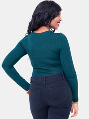 Vivo Basic Long Sleeved Bodysuit - Dark Green