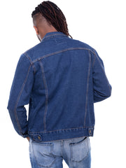 Naiwear Denim Jacket - Navy Blue