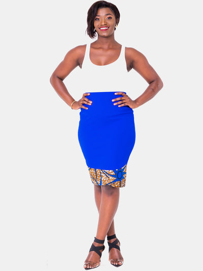Vivo Swazuri Pencil Skirt - Royal Blue - Shop Zetu