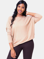 Safari Nala Tunic Dolman Top - Taupe - Shop Zetu