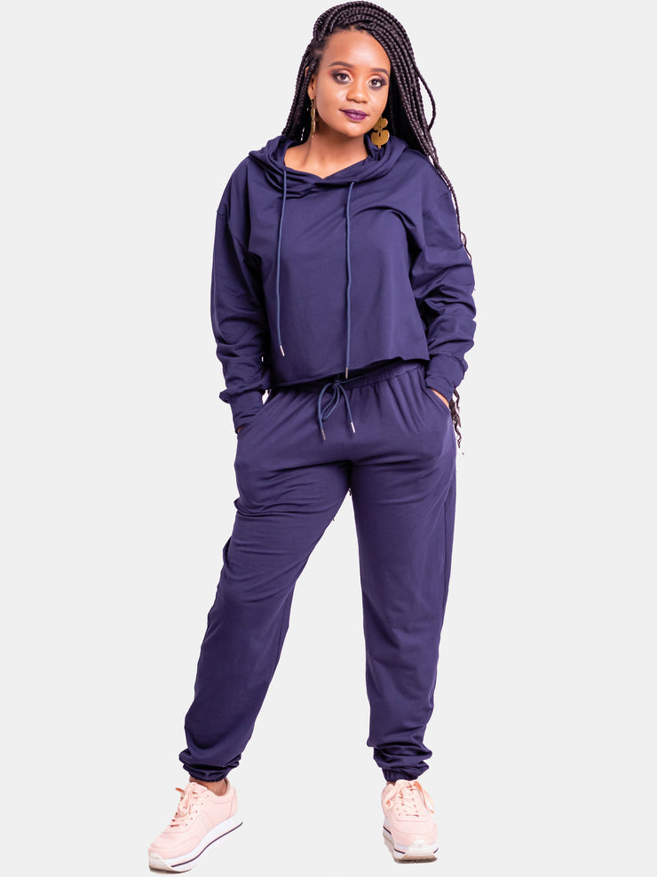 Vivo Tulia Joggers (Regular) - Navy Blue - Shop Zetu