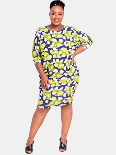 Vivo Nandi Dolman Dress - Blue Print
