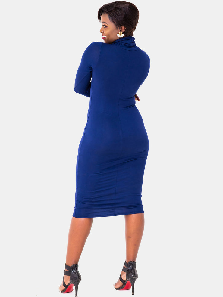 Vivo Turtleneck Bodycon - Navy Blue