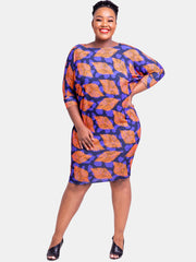 Vivo Nandi Dolman Dress - Orange Print