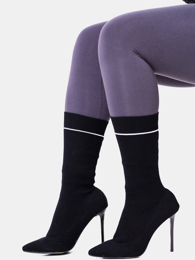 Umbo Ladies' Sock Boots - Black - Shop Zetu