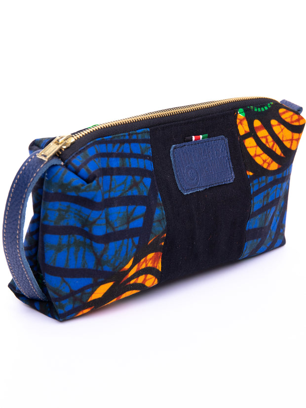 Crafts with Meaning Toiletry Bag - Blue / Green Print