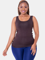 Vivo Basic Tank Top - Chocolate Brown - Shop Zetu