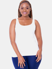 Vivo Basic Tank Tops - Off White - Shop Zetu