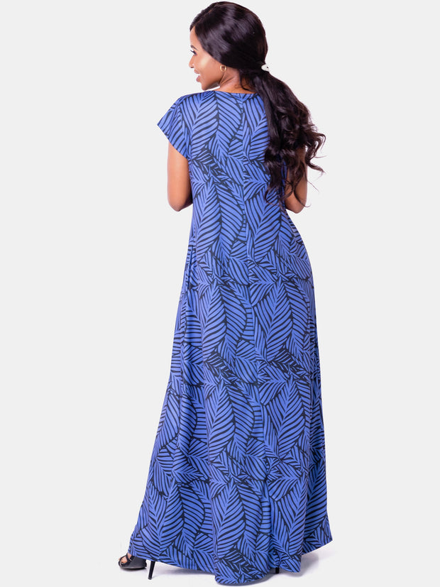 Vivo Tuni Tent Maxi Dress (Tall) - Navy Print