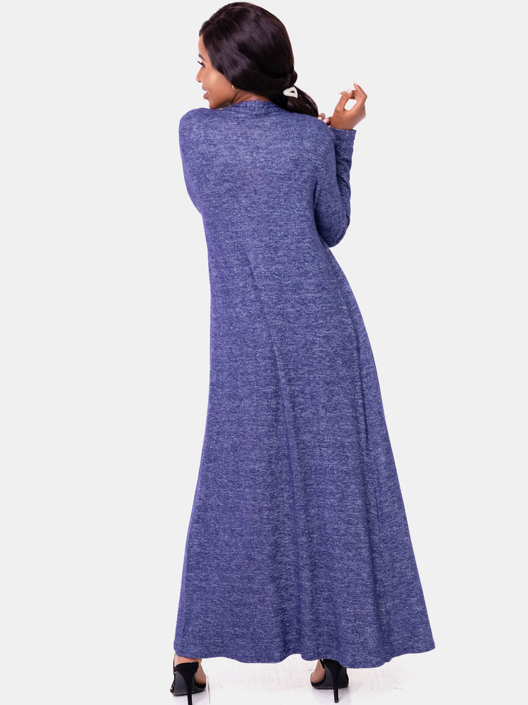 Vivo Basic Sweater Maxi Waterfall - Navy Blue