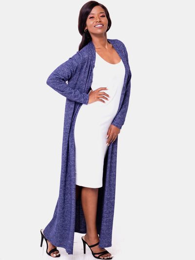Vivo Basic Sweater Maxi Waterfall - Navy Blue - Shop Zetu