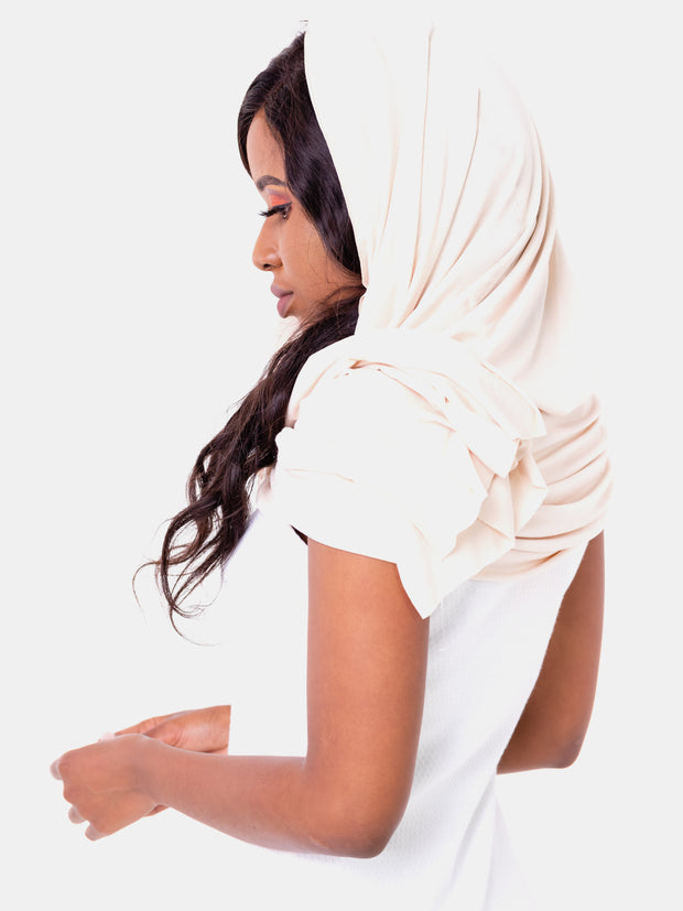 Vivo Scarf/Head Wrap - Cream White