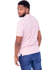 Naiwear Striped Polo T-Shirt - Pink