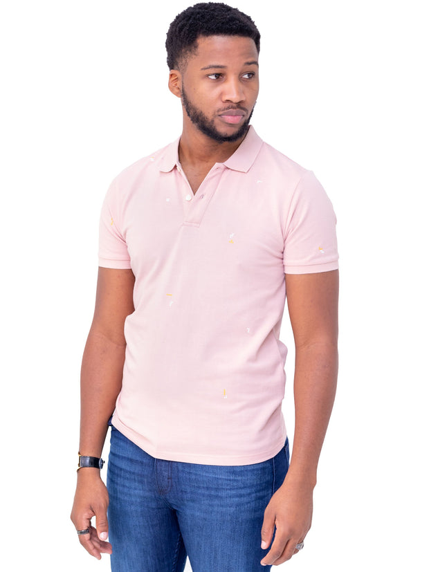 Naiwear Polo T-Shirt - Light Pink - Shop Zetu