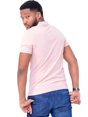 Naiwear Polo T-Shirt - Light Pink