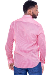 Naiwear Pinstriped Shirt - Pink