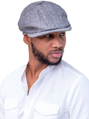 Naiwear Newsboy Cap - Grey - Shop Zetu