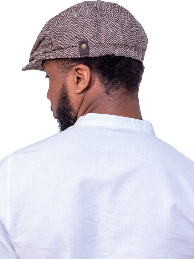 Naiwear Newsboy Cap -  Brown
