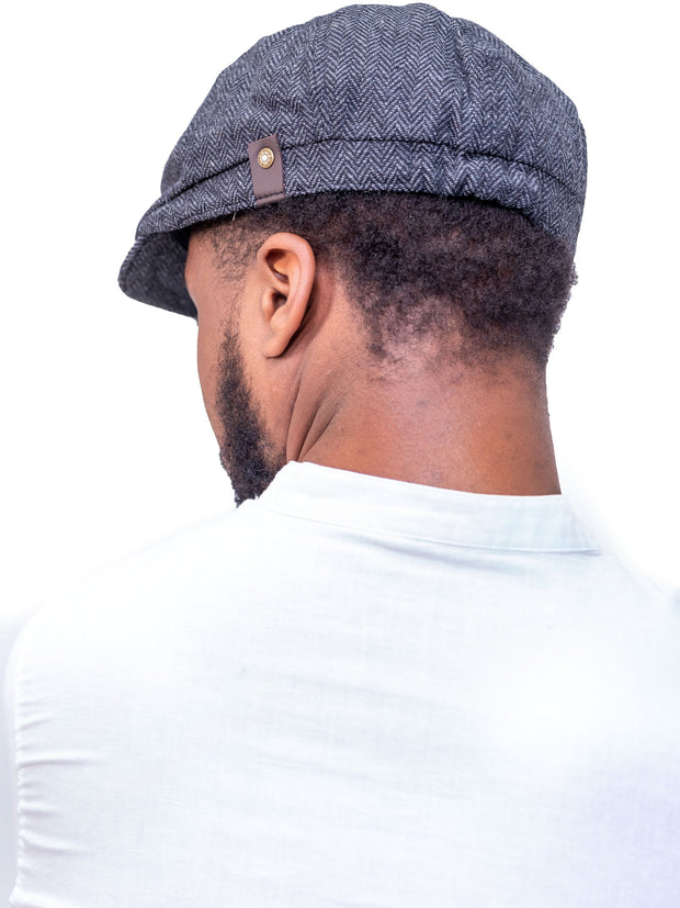 Naiwear Newsboy Cap - Black
