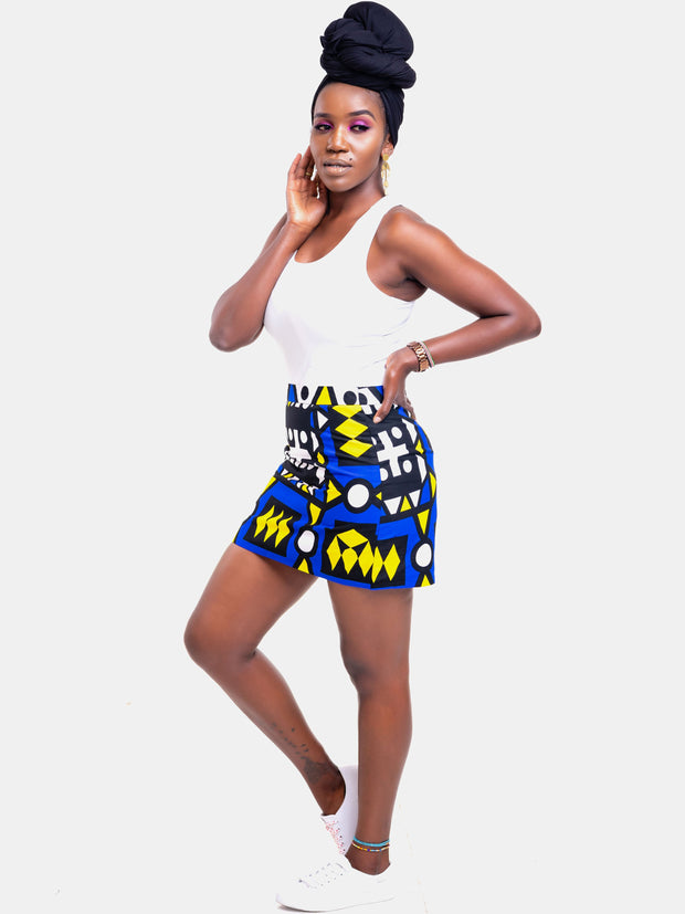 Kidosho Pambo Mini Skirt - Blue Print